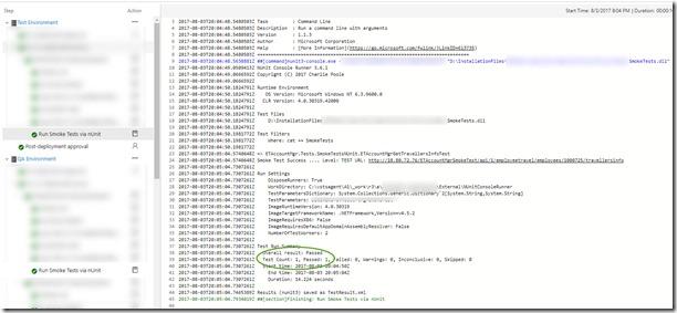 Using NUNIT Test Framework do validate deployments in VSTS